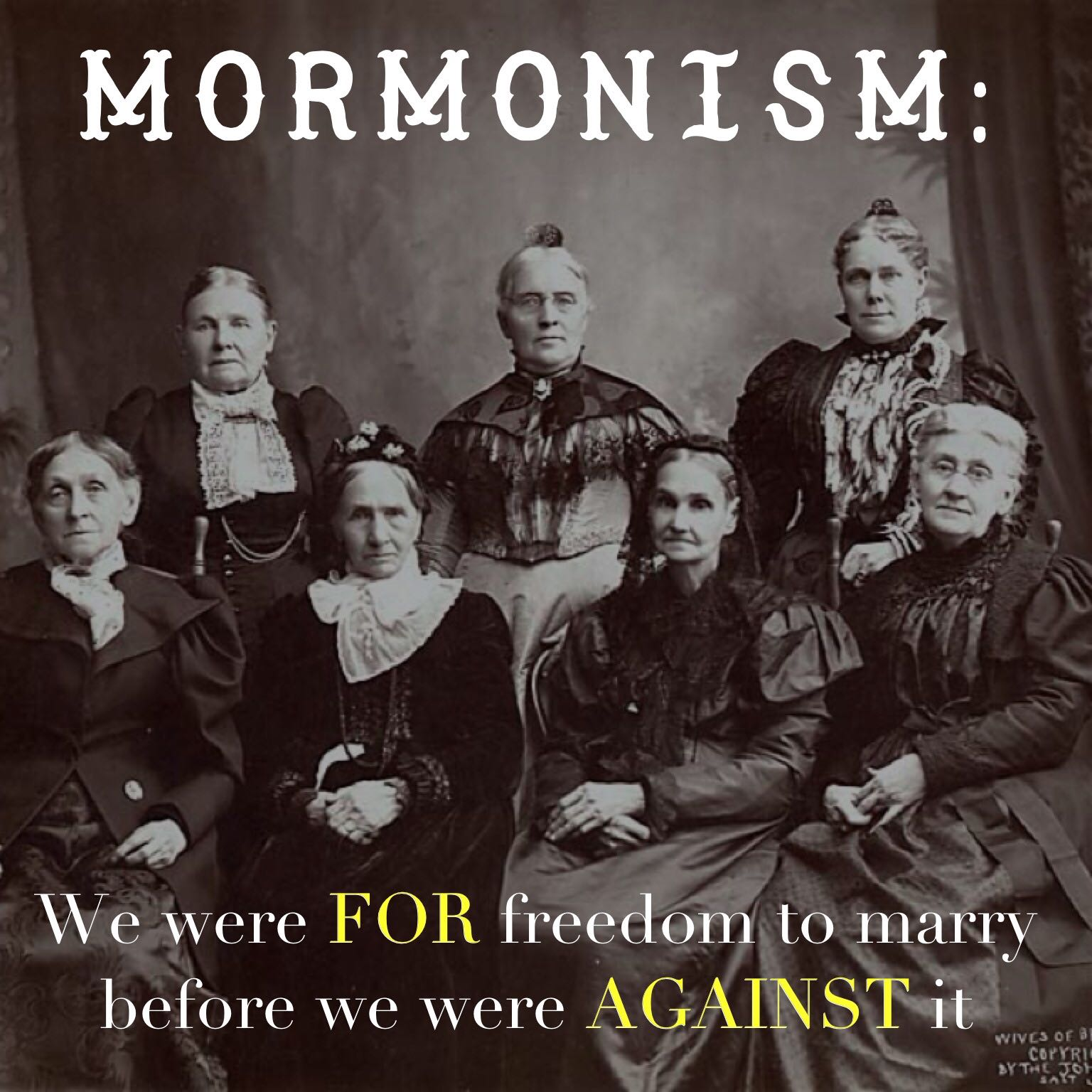Mormons were FOR freedom to marry