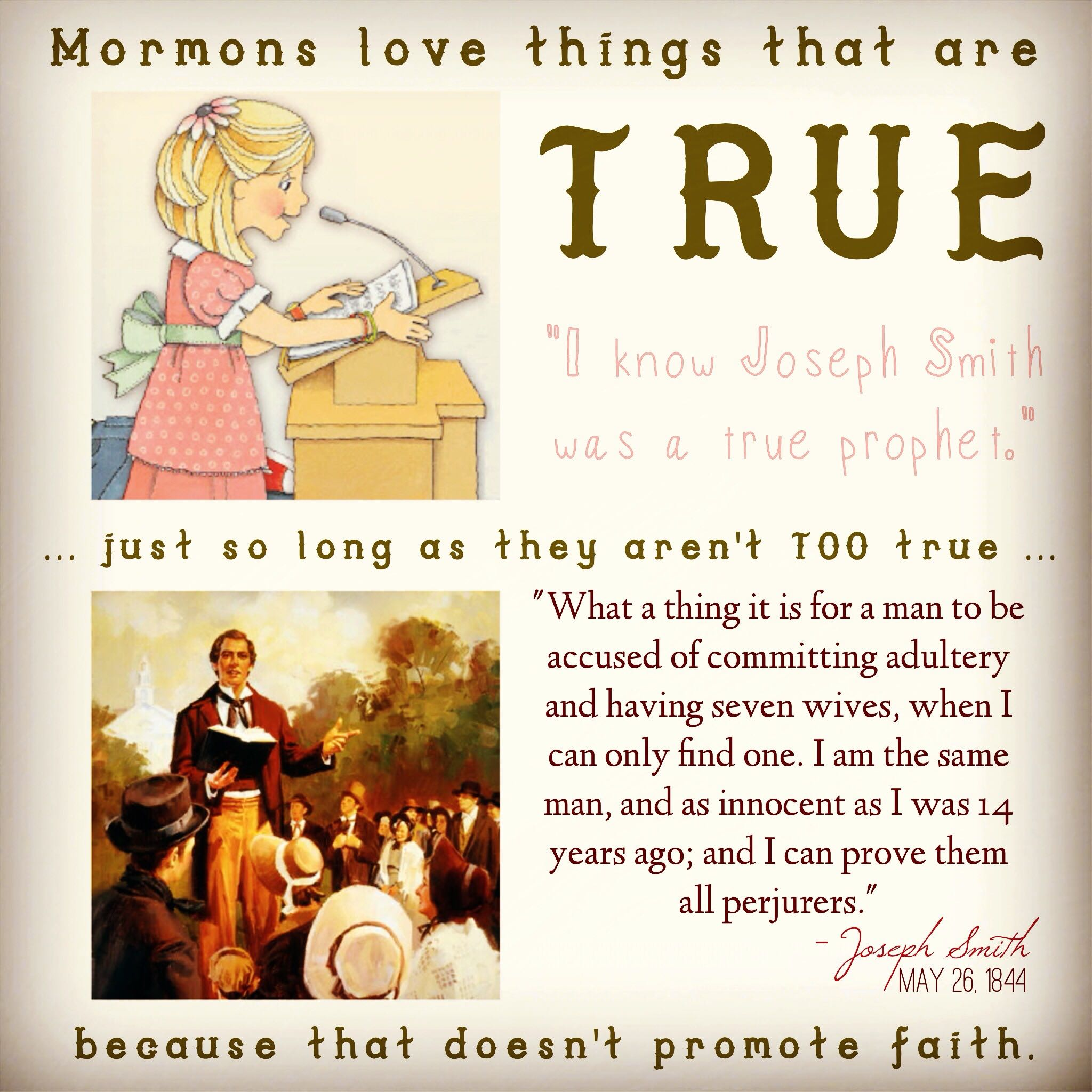 Promote faith over truth
