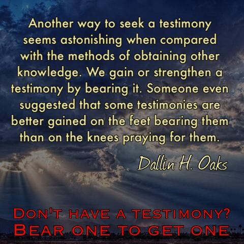 Instant testimony