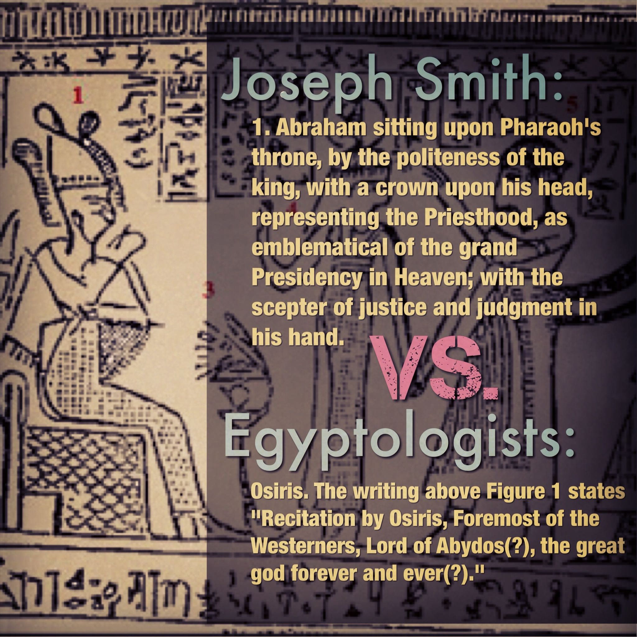 Abraham or Osiris?