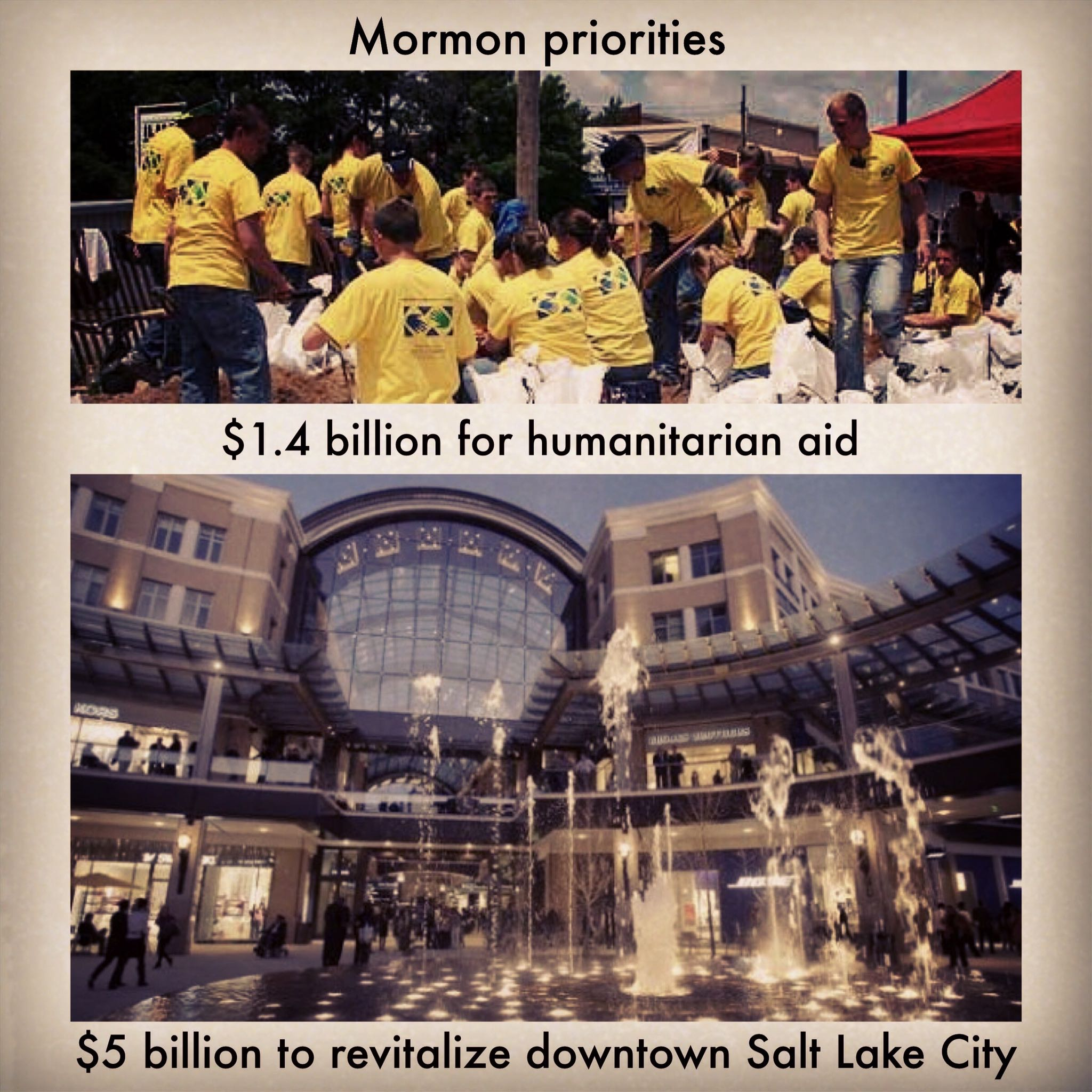 Mormon priorities