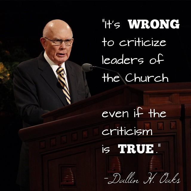 Do not criticize