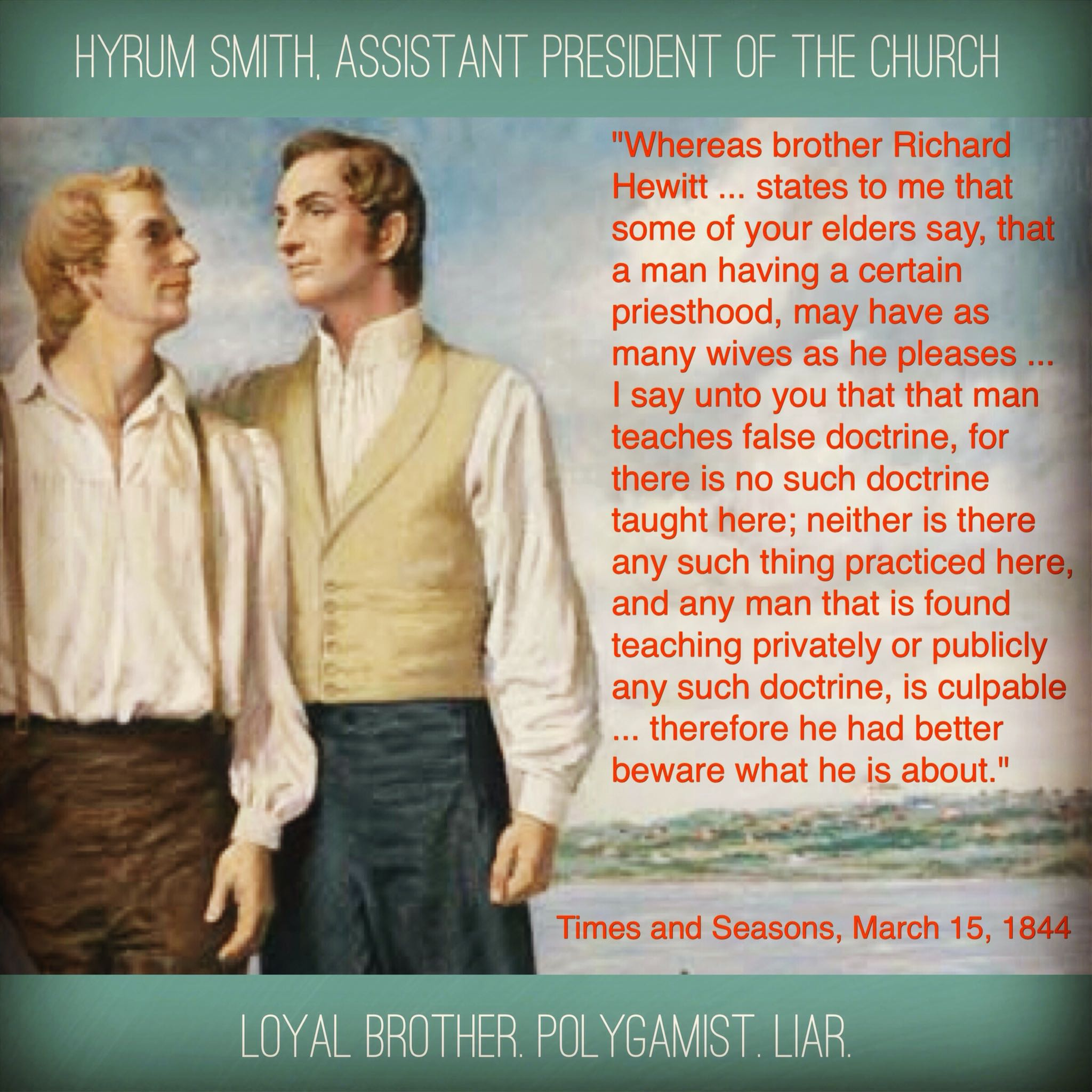 lying brother hyrum