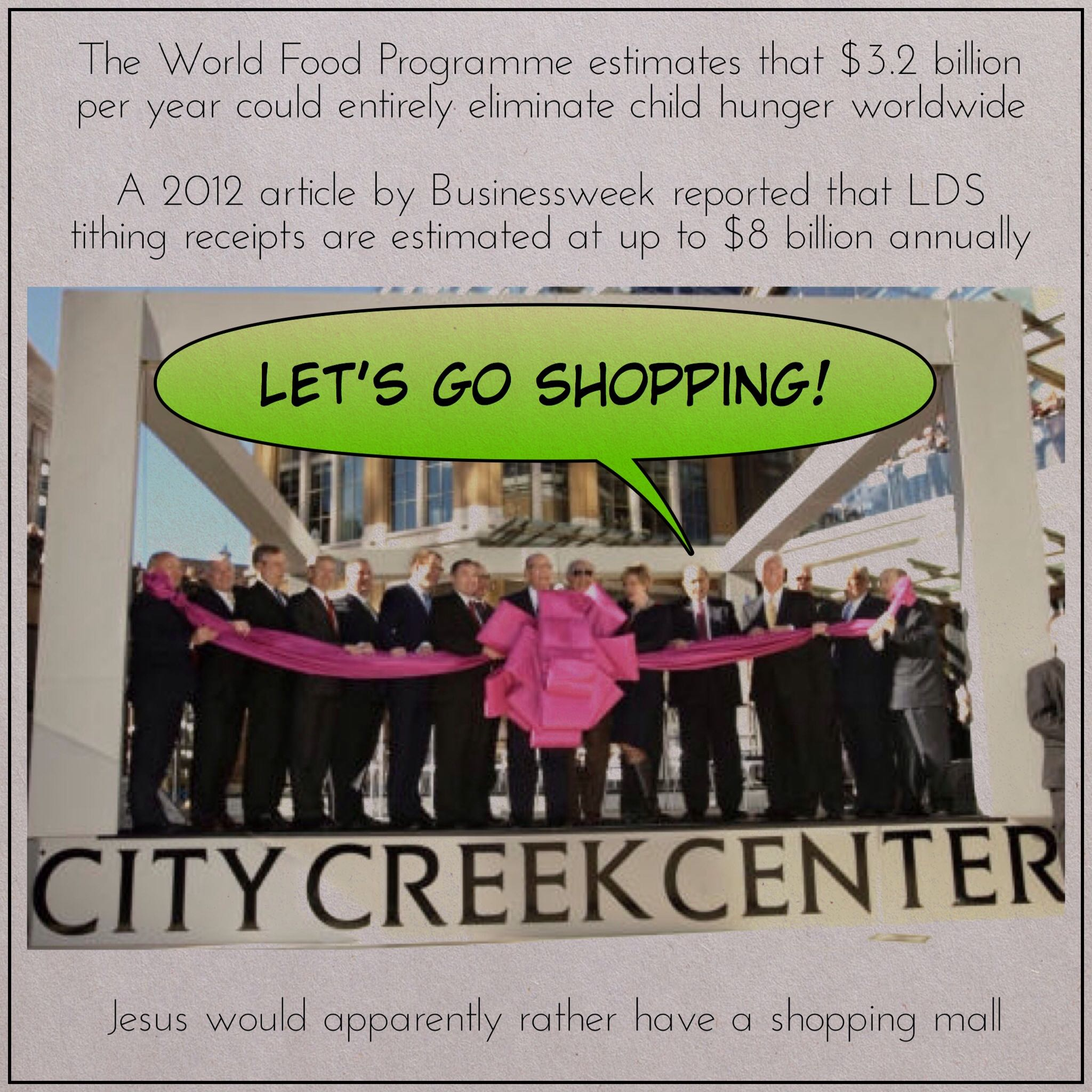 jesus would rather have a shopping mall