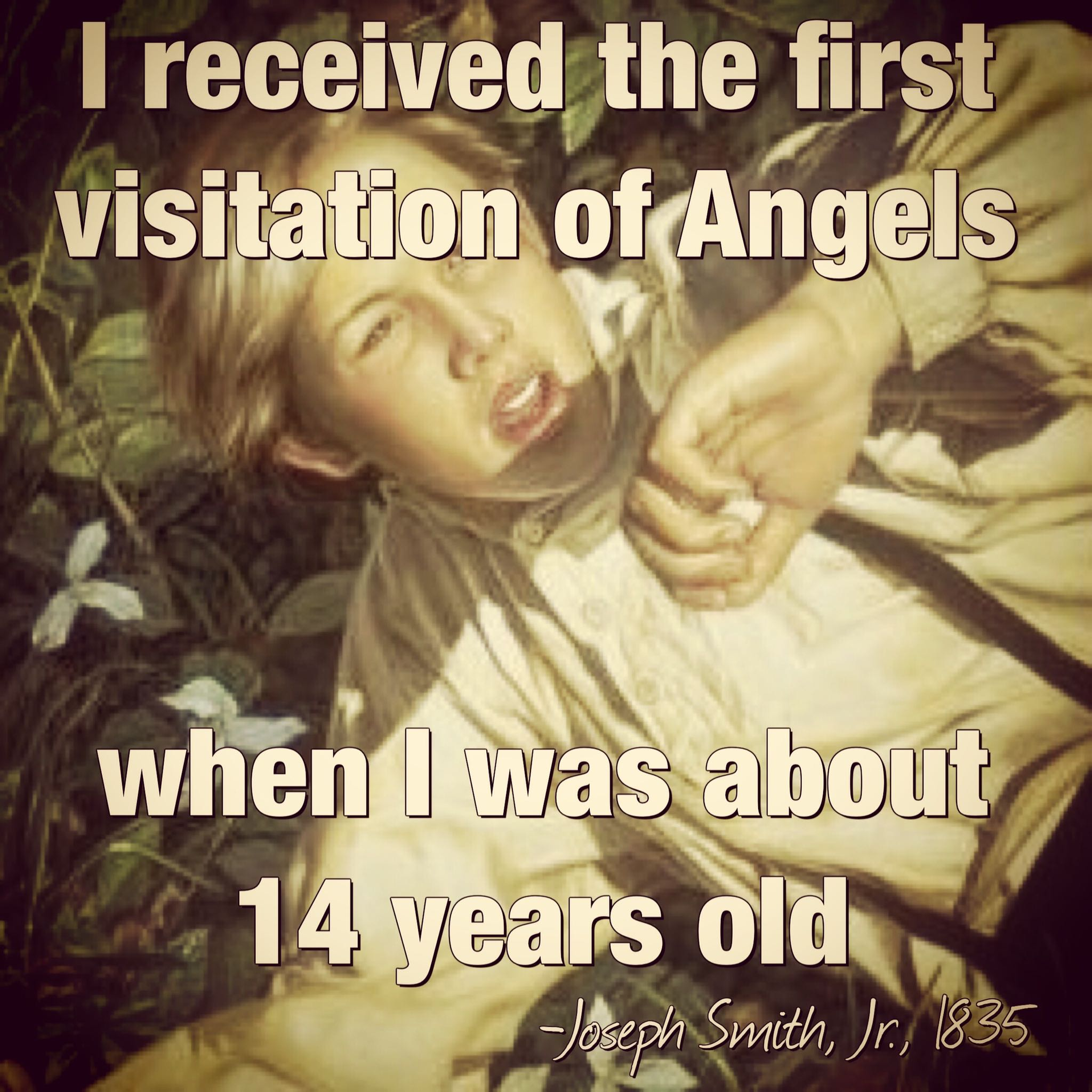 i received the first visitation of angels
