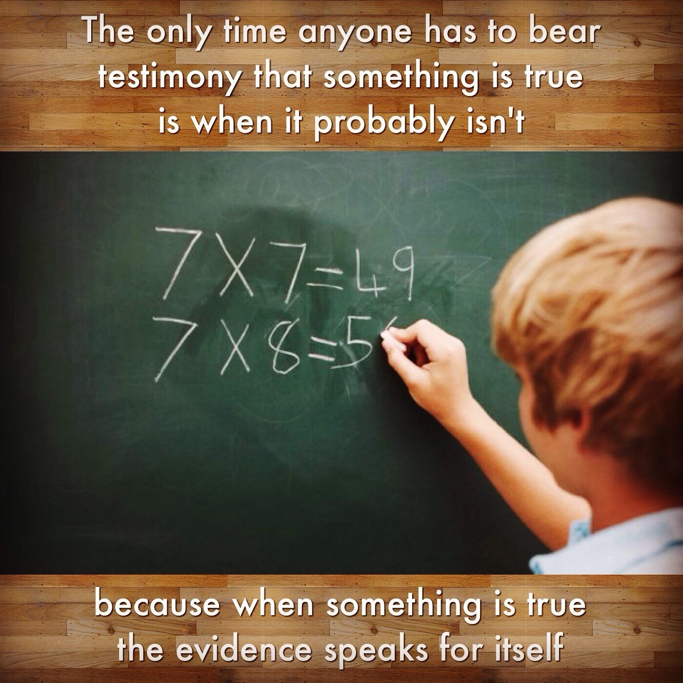 Math testimony