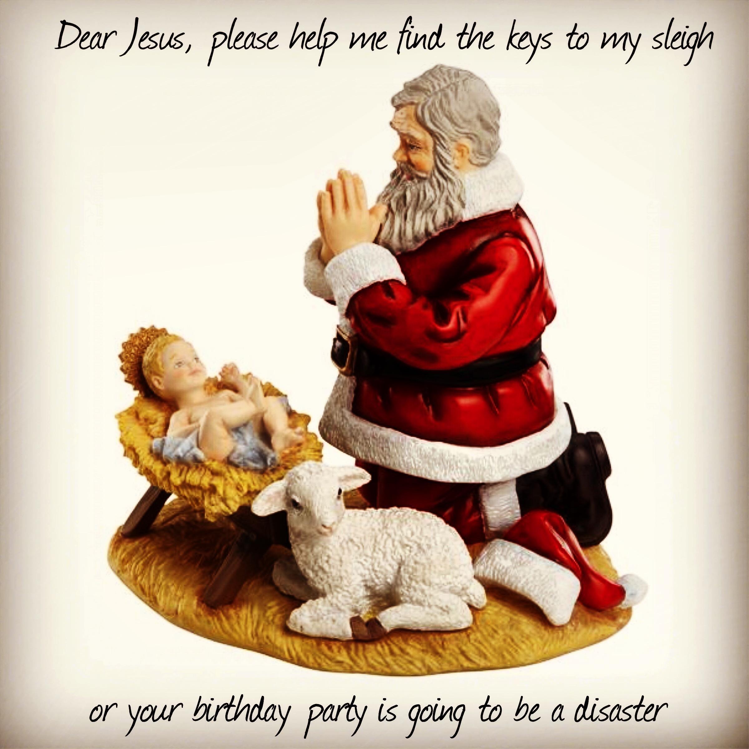 Baby Jesus finds keys