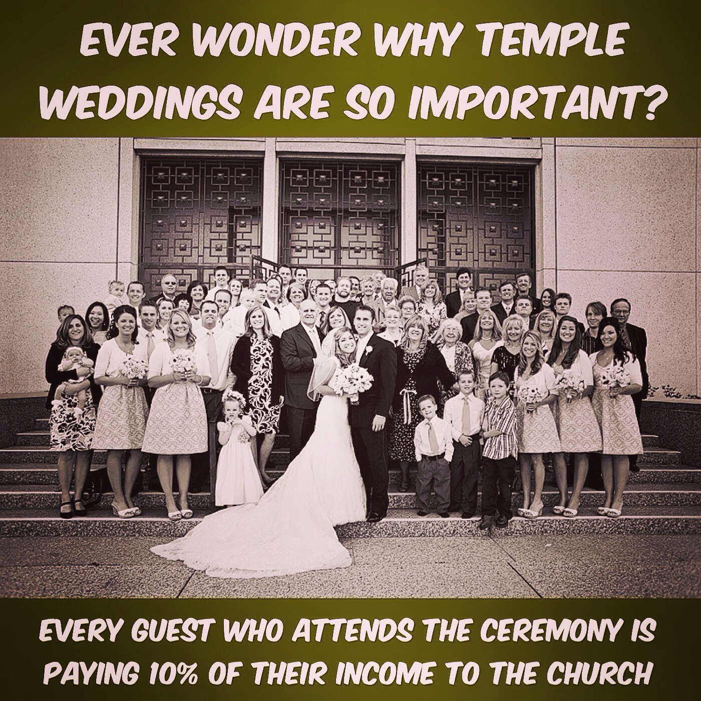 Temple marriage and tithing