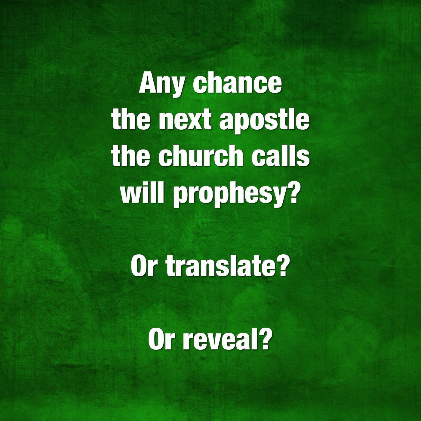 Will he prophesy?