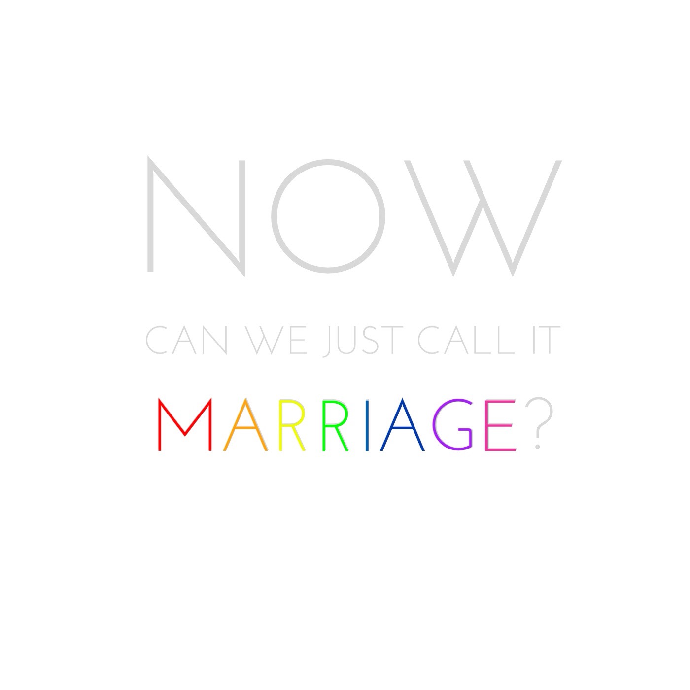 Just call it marriage