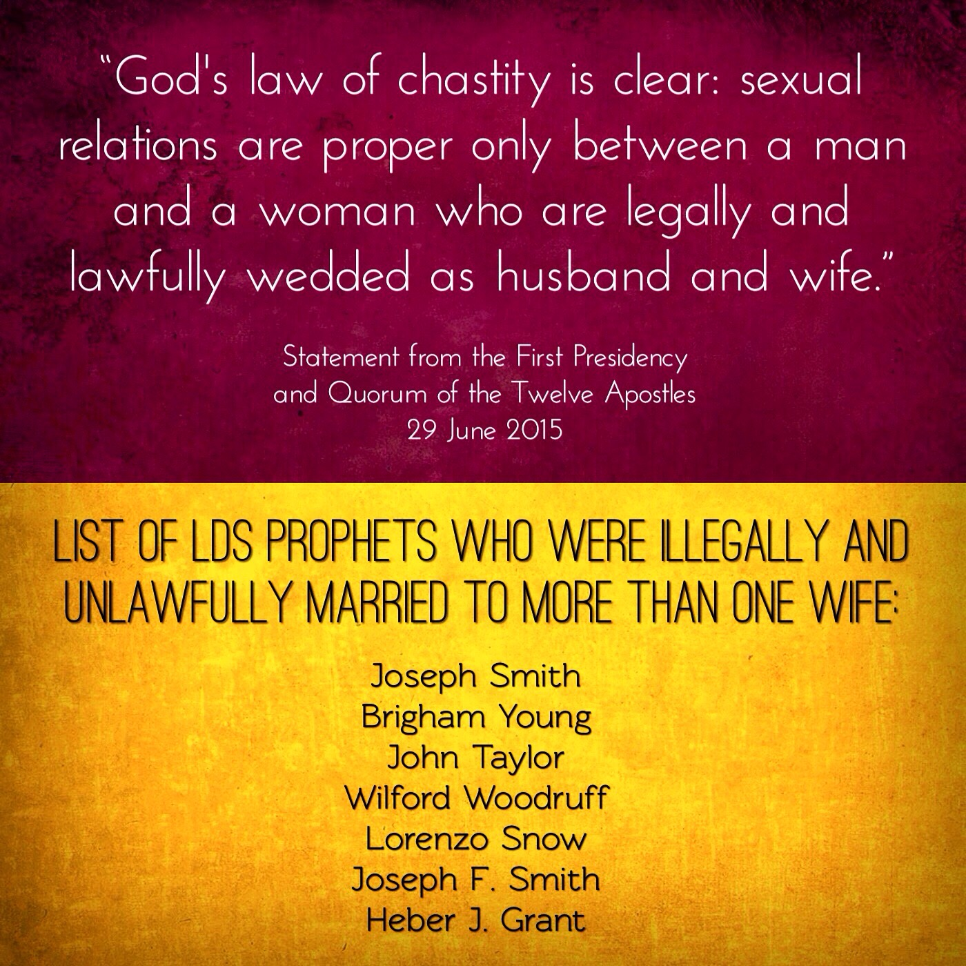 Clear law of chastity