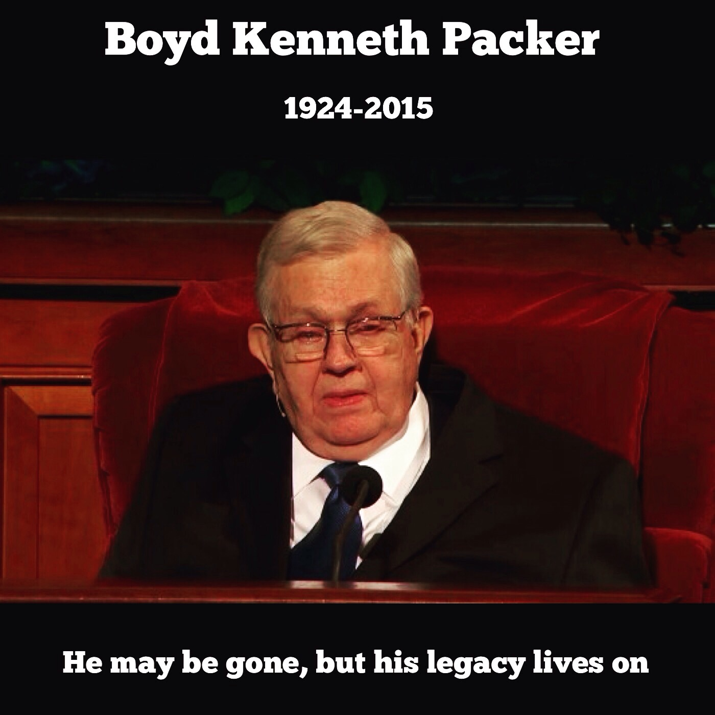 RIP Boyd K. Packer