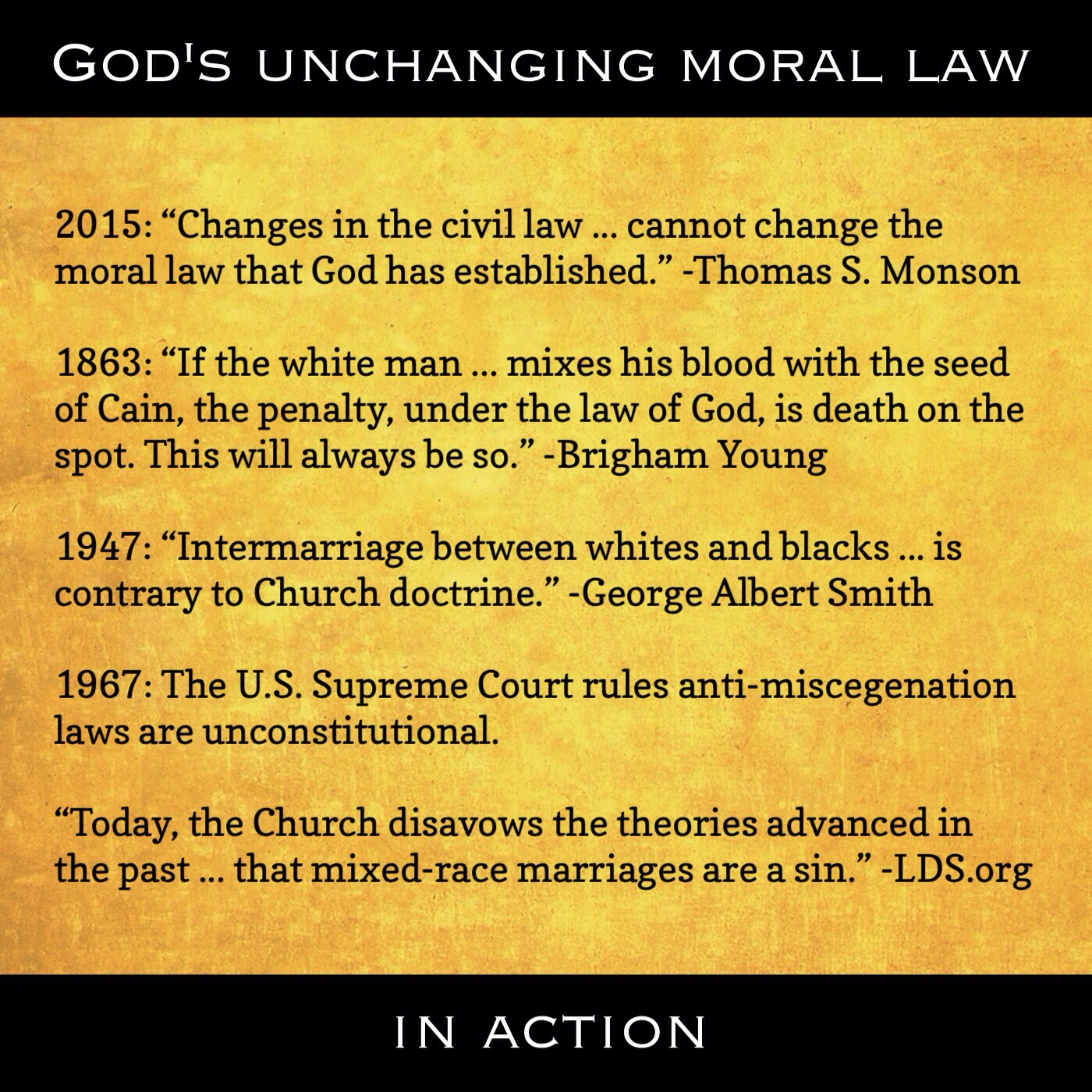 Unchanging moral law