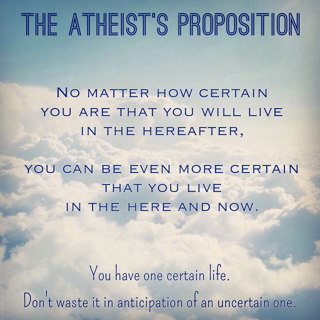 the atheist's proposition