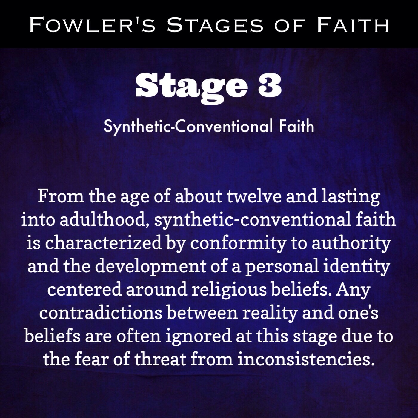 Fowler's Stages of Faith