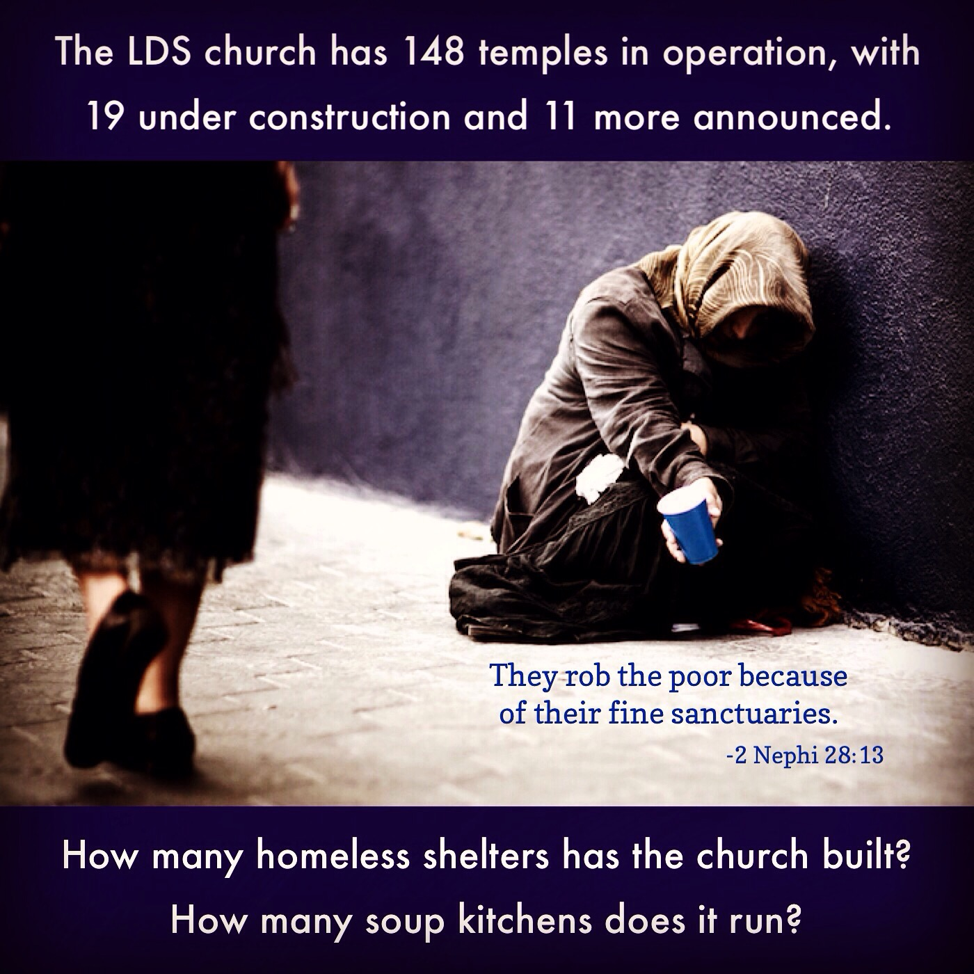 How many homeless shelters?