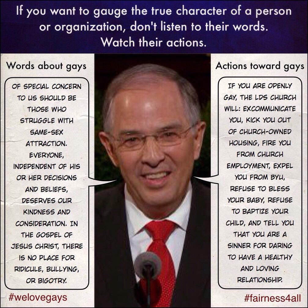 Words vs actions