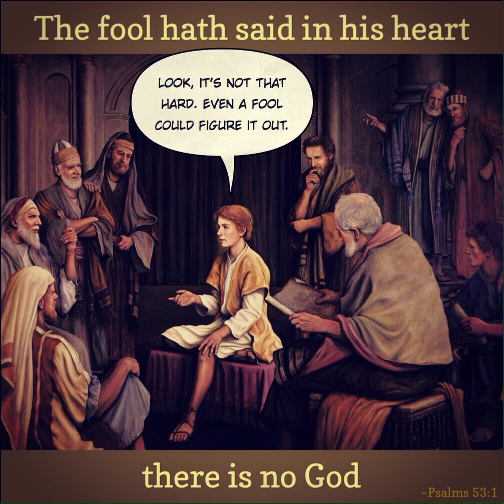 Even a fool