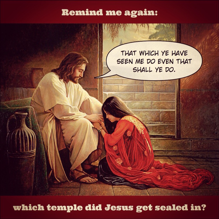 In which temple was Jesus married?