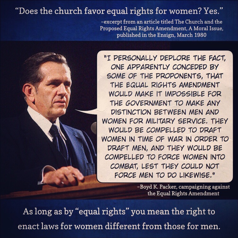 Equal rights are different rights