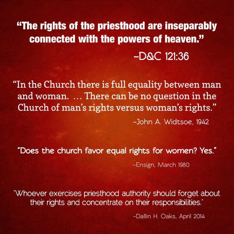 Equal rights? Of course!