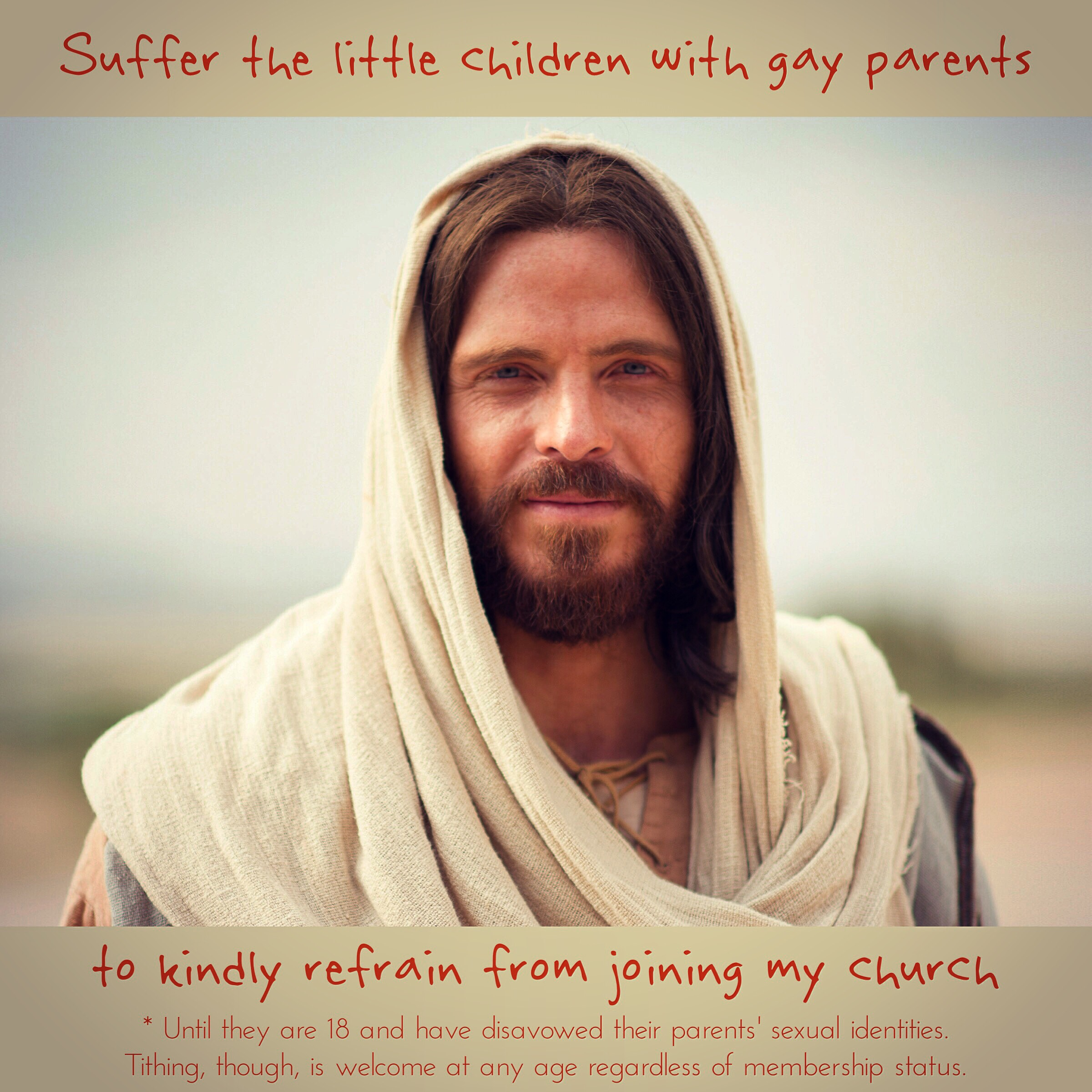 Suffer little children to stay away